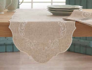 LENOX FRENCH PERLE TABLECLOTH
