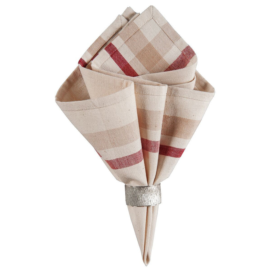 French Stripe napkin red