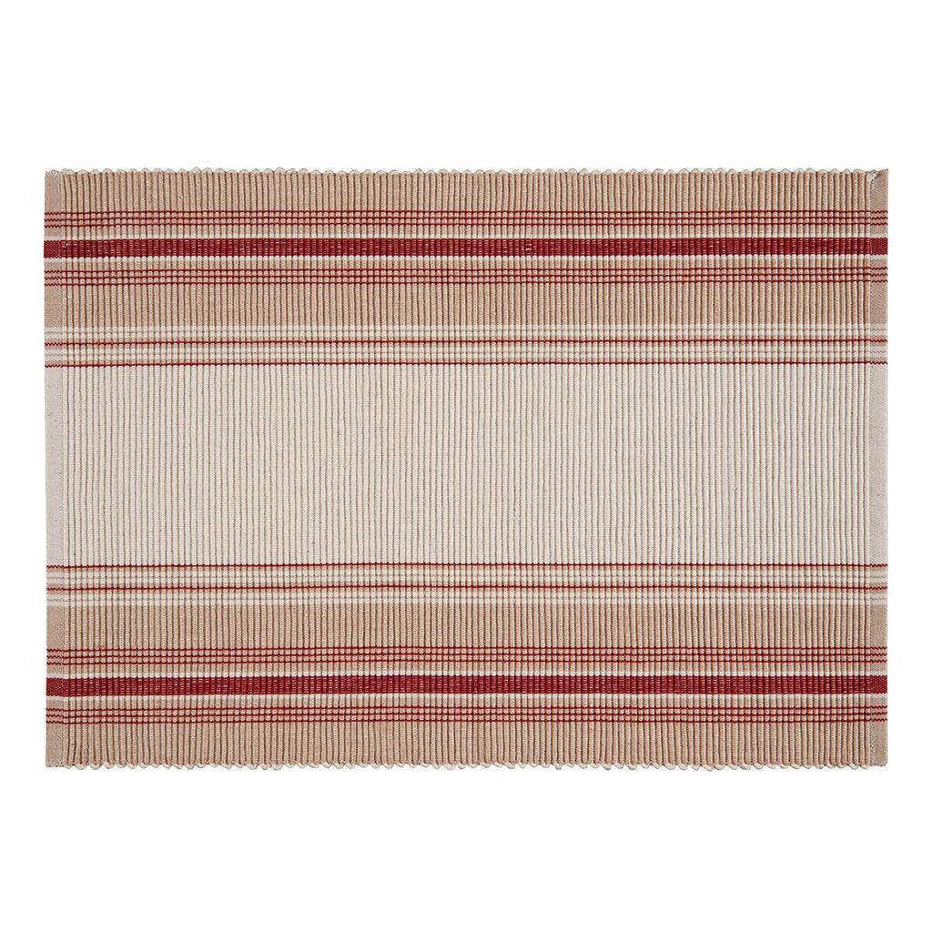 French Stripe placemat red