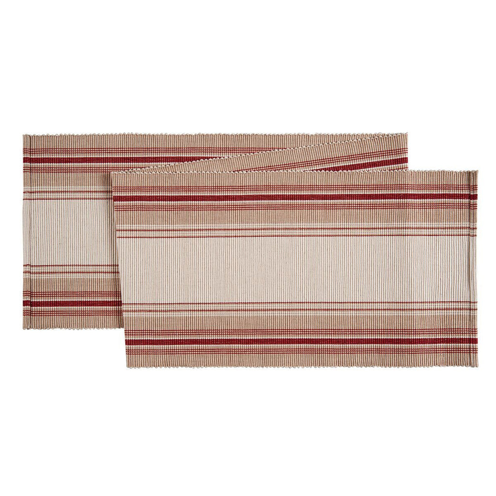 French Stripe runner red
