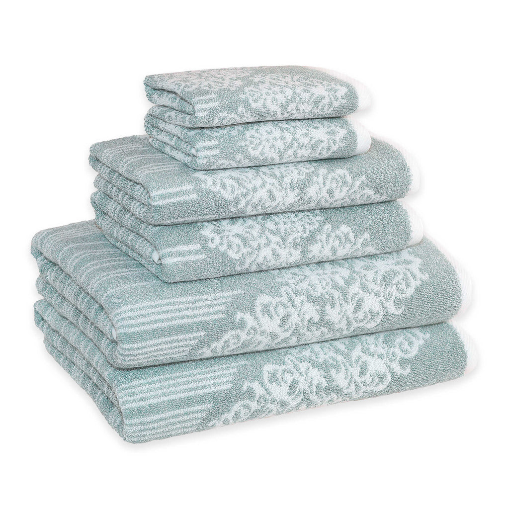 Linum Home Gioia Towels soft aqua