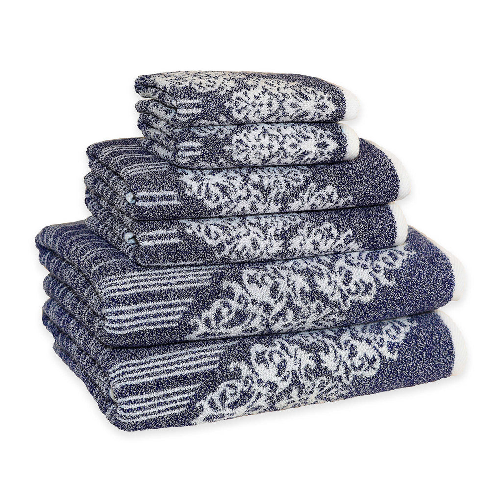Linum Home Gioia Towels ocean blue