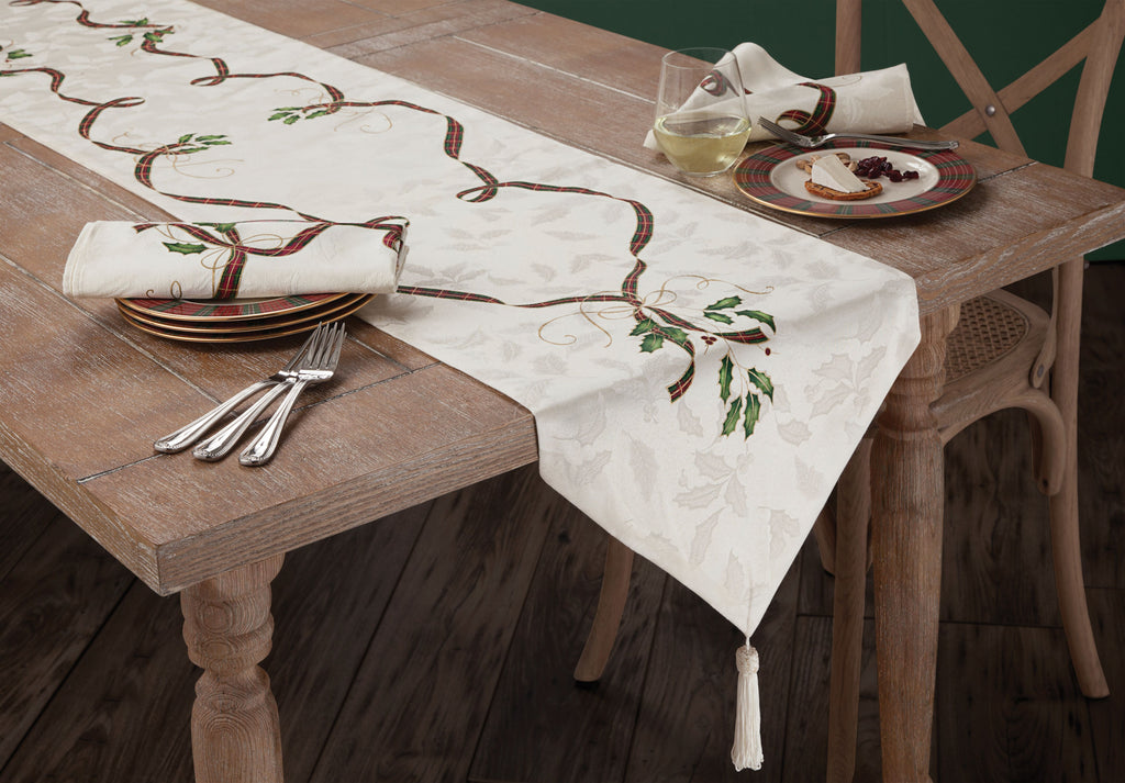 LENOX HOLIDAY NOUVEAU TABLE LINENS runner