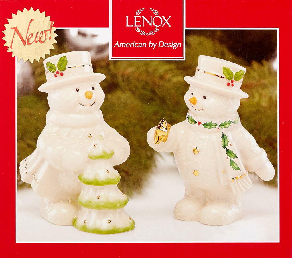 HAPPY HOLLY  DAYS SNOWMAN SALT AND PEPPER SHAKERS