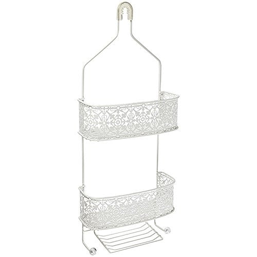LACE SHOWER CADDY ANTIQUE WHITE