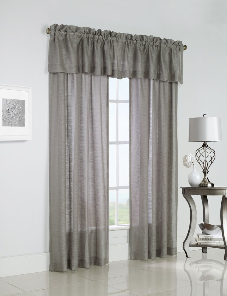 MIST STRIPE VALANCE AND PANEL TAUPE