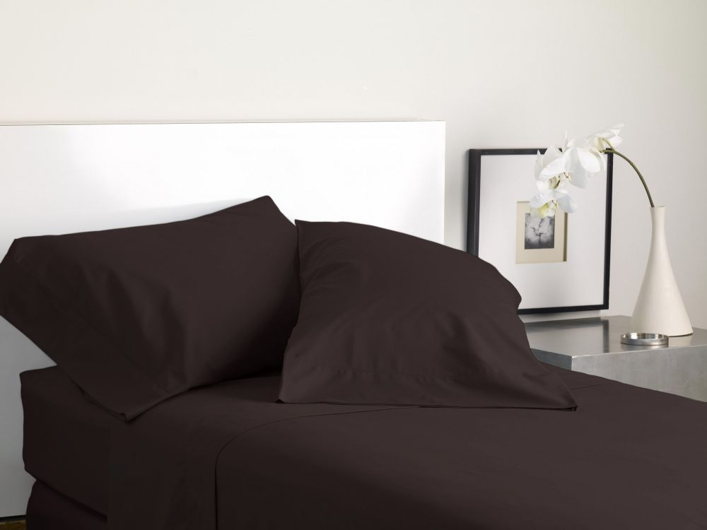 MODERN LIVING SOLID COLOR T300 SHEET SET java