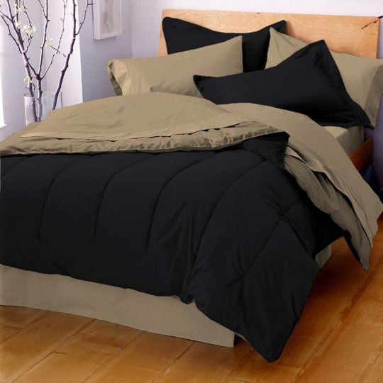 MARTEX REVERSIBLE COMFORTER black tan