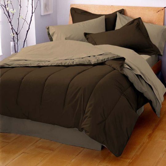 MARTEX REVERSIBLE COMFORTER brown khaki