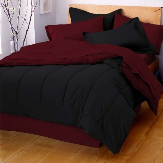 MARTEX REVERSIBLE COMFORTER black red