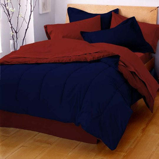 MARTEX REVERSIBLE COMFORTER navy red