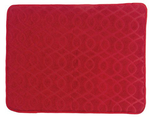 NECESSITIES KITCHEN ACCESSORIES DRY MAT SCARLET