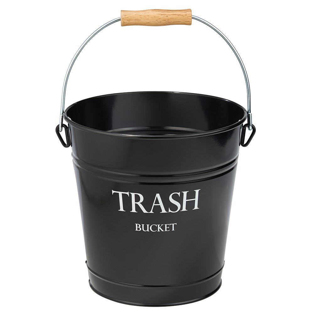 PAIL WASTECAN BLACK