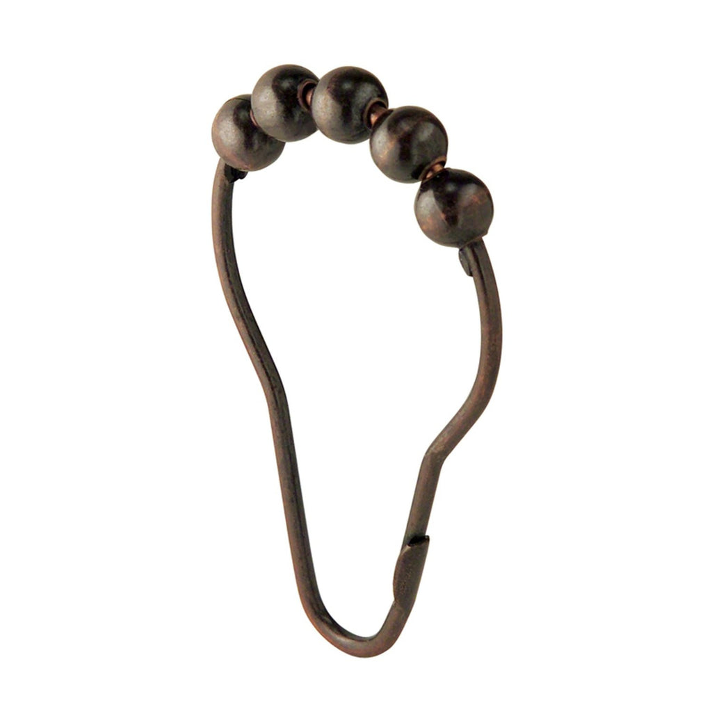 ROLLERZ SHOWER CURTAIN HOOKS BRONZE