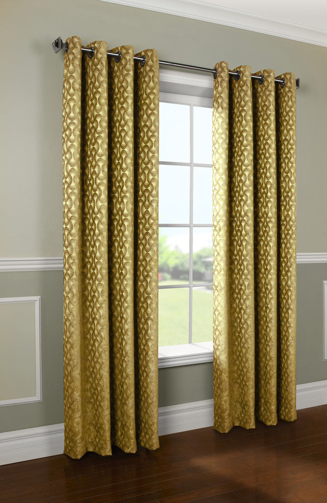 rope chenille panel gold