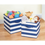 RUGBY STRIPE CLOSET ORGANIZERS AND STORAGE CUBES