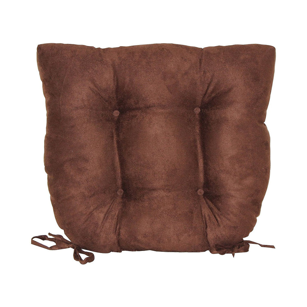 super suede chair pad chocolate