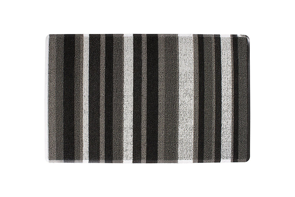 Stripe Tufted indoor Outdoor Floor Mat grey