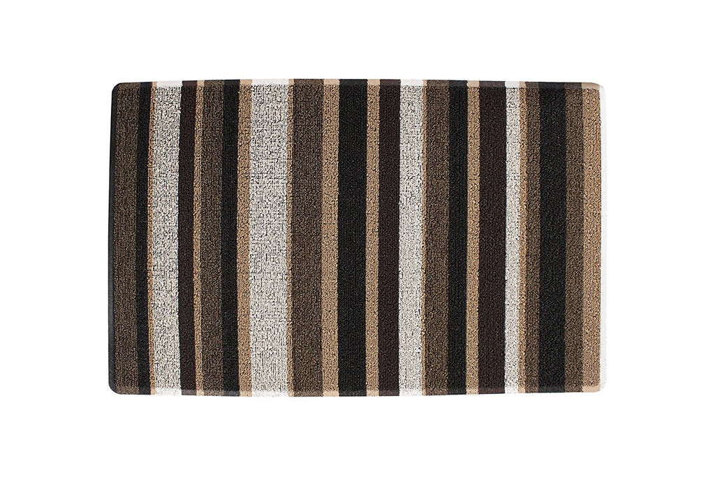 Stripe Tufted indoor Outdoor Floor Mat neutral