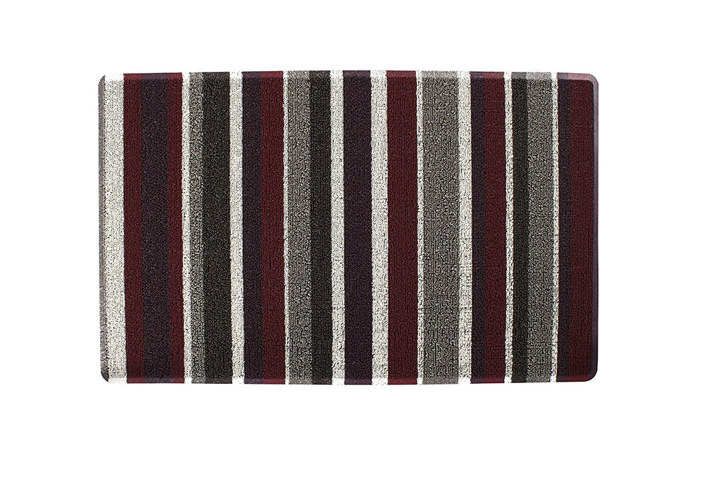 Stripe Tufted indoor Outdoor Floor Mat red