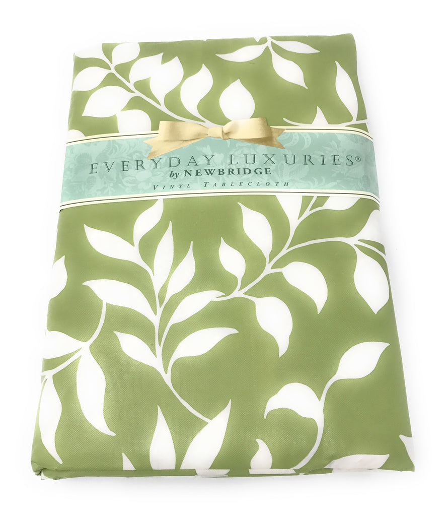 TONAL LEAF VINYL TABLECLOTH