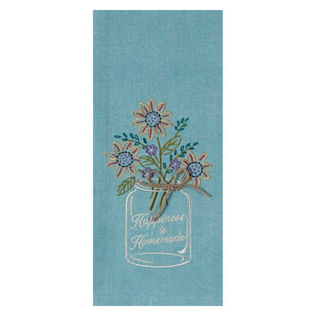GARDEN RULES EMBROIDERED KITCHEN TOWELS