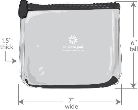 1 Clear Hanging Toiletry Bag - Black Trim +<br>1 TSA Approved Clear Travel Bag - Black Trim