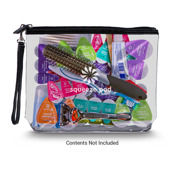 Clear Hanging Toiletry Bag<br>Las Vegas (LV) Imprint
