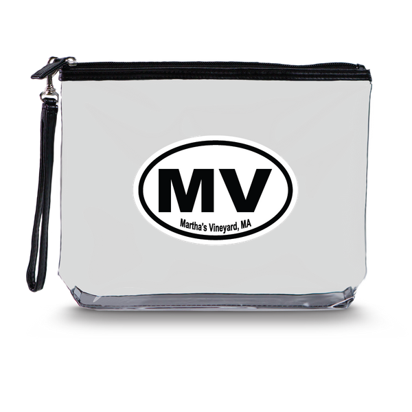 Clear Hanging Toiletry Bag<br>Martha's Vineyard (MV) Imprint