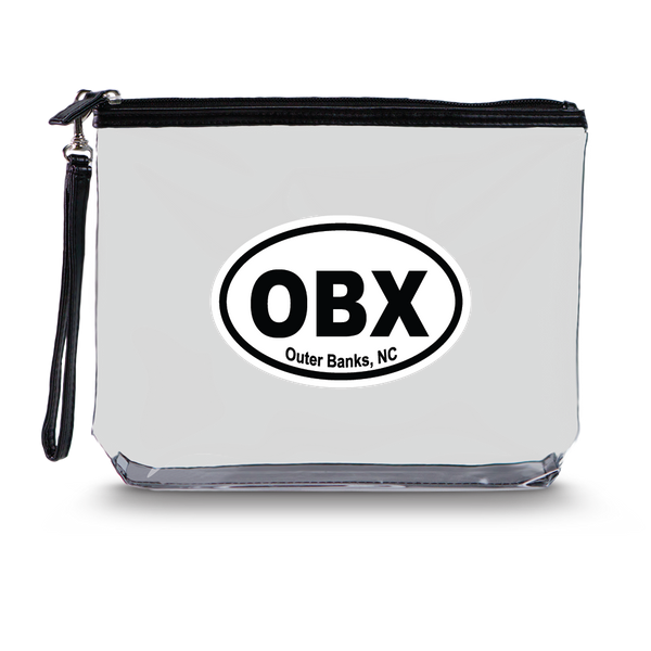 Clear Hanging Toiletry Bag<br>Outer Banks (OBX) Imprint