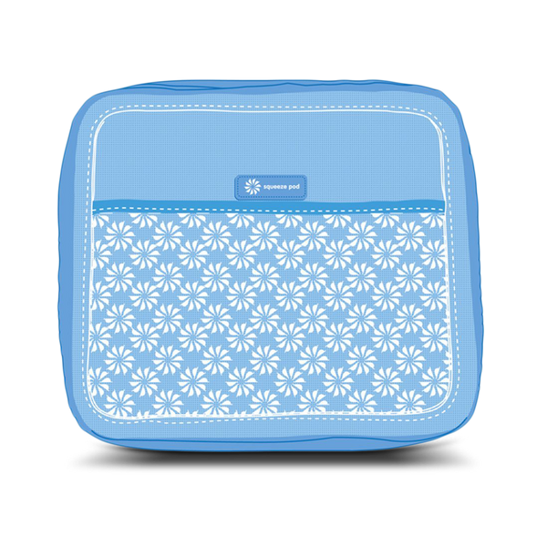 Squeeze Pod Blue Toiletry Organier