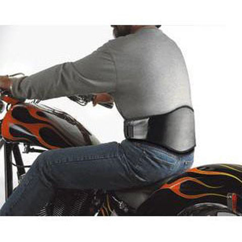 DELUXE® LUMBAR SUPPORT - BLACK LEATHERETTE (FOR OUR MOTORCYCLE ENTHUSIASTS) (25% OFF - WHILE SUPPLIES LAST)