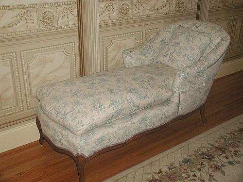 Walnut Toile Chaise French Styling Down Cushion C