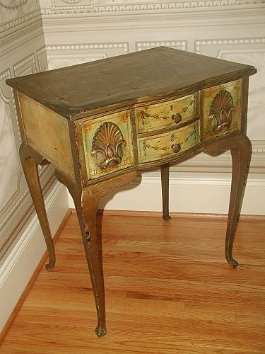Italian Desk Table 18th Century Hand Made Painted