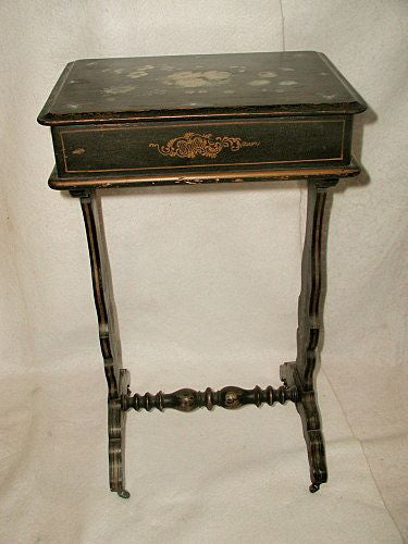French Sewing Table Decorative Hand Painting 18th Century
