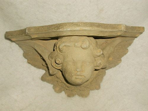 Cherub Garden shelf Concrete France Early 1900's