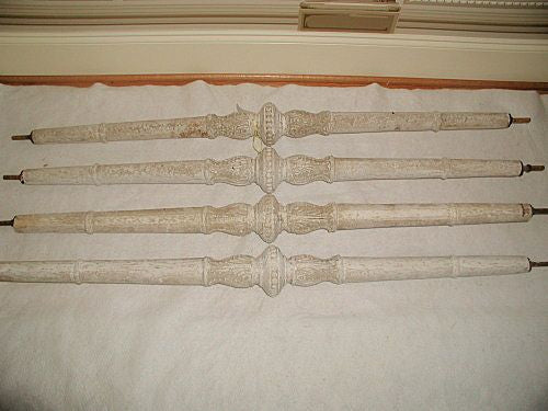 Plaster Rods Columns Italy 19th C threaded from building exterior