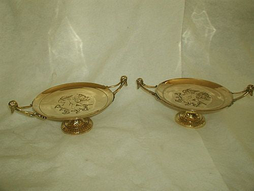 Italian brass tazzas solid 19th century