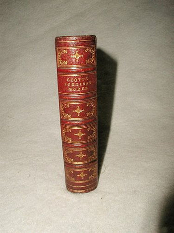 """Scott's Poetical Works"" Illustrated C.1877 Leather Bound"