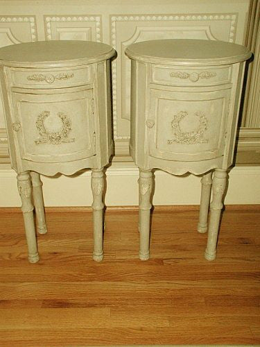 French Side Tables Hand Carving Painted Early 1900's