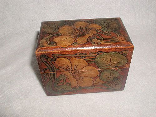 Scottish card box hand made painted late 19th century