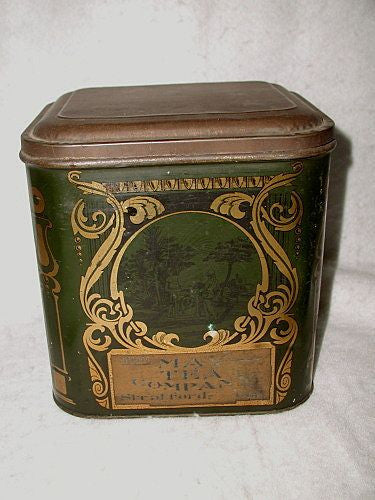 Tea Caddy Toleware Tin England C.1900 May Tea Company