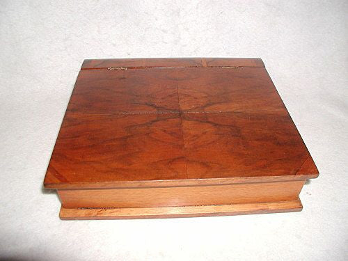 Desk Book Box Burl Inlay England 19th Century