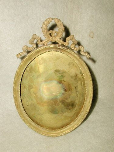 French Brass Frame Oval 19th Century