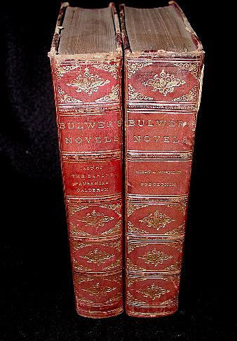 Bulwers Novels Complete C.1851 England Illustrated Leather