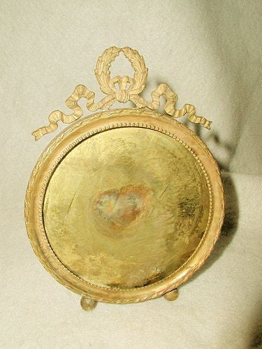 French Brass Frame Solid Round 19th Century