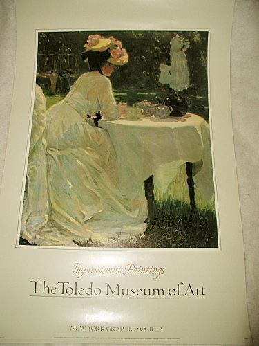 "Impressionistic Monet Print ""In The Garden"" 20th Century"