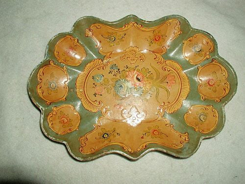Papier Mache Tray Hand Painted Alcohol Proof
