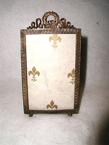 French Brass Frame Photo ornate 19th Century