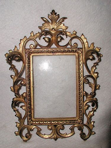 Italian Brass Frame With Glass Early 1900's